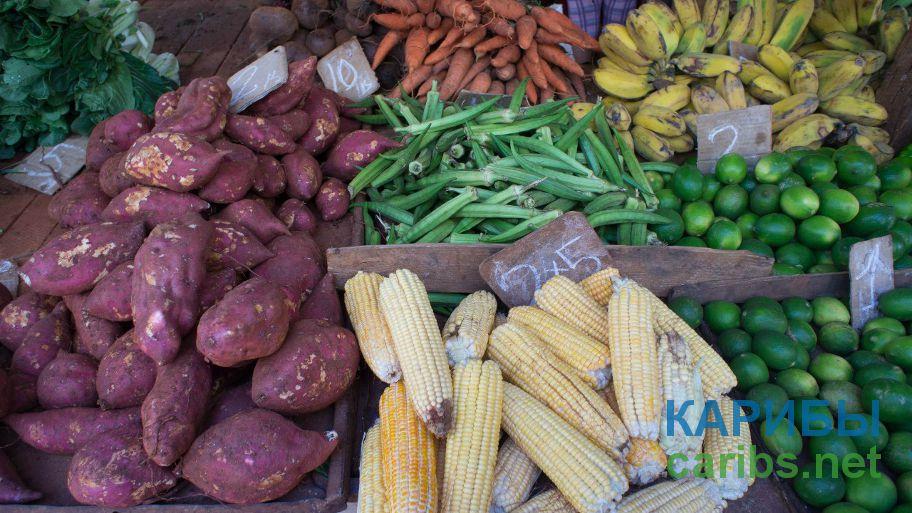 Овощи и фрукты на кубинском рынке