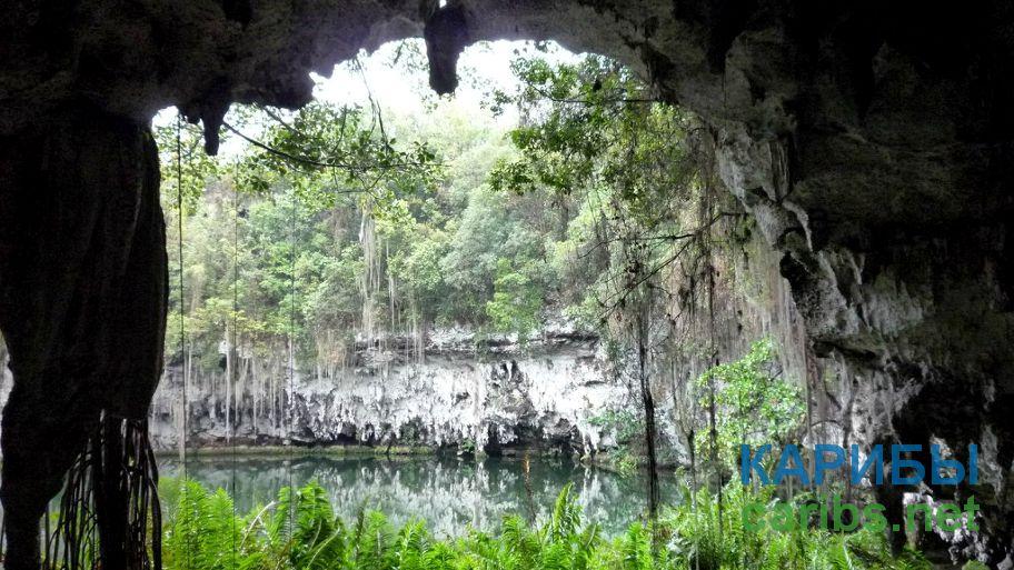 Пещера в Доминикане.