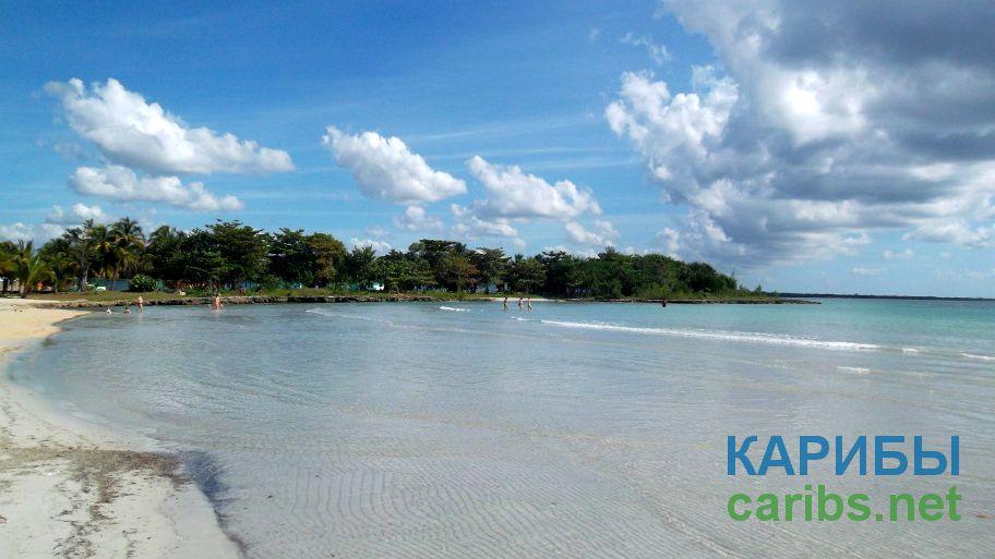 Пляж в городе Варадеро