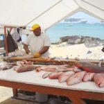 Большой Кайман рынок свежей рыбы