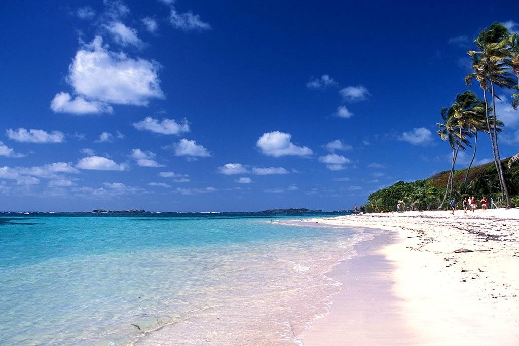 белоснежные пляжи острова Мартиника
